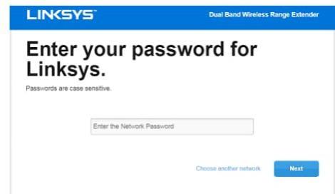 linksys re6300 setup password