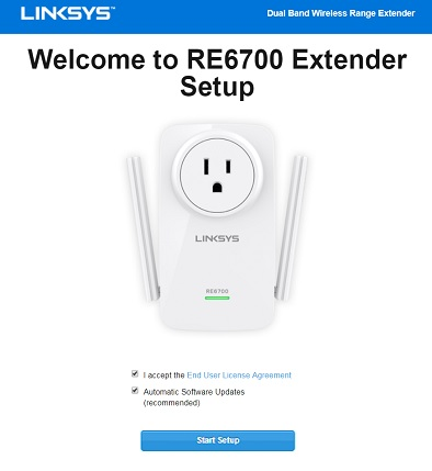 linksys wifi extender setup re7000