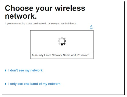 wireless network for linksys re7000